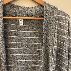 bp Sweaters - B.P Nordstrom Soft Striped Open Front Cardigan SM